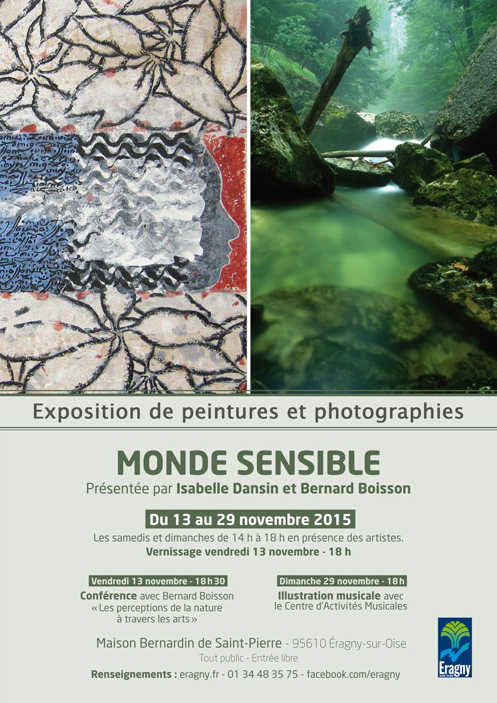 Expo Isabelle Dansin -  Bernard Boisson Eragny